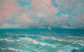 Picture wave, Sea, sail, Aibek Begalin, Two thousand two
