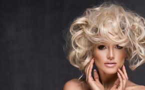 Picture girl, face, model, hair, makeup, hairstyle, blonde