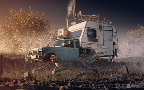 Picture transport, van, The Journey