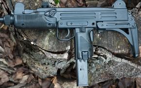 Wallpaper macro, Model A, gun machine gun, 9mm, UZI
