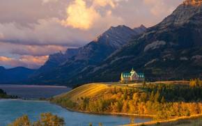 Picture lake, Canada, Albert, the hotel, Waterton Lakes
