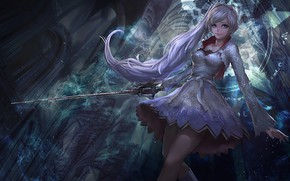 Picture kawaii, sword, anime, pretty, ken, blade, bishojo, White Snow, RWBY, japonese