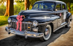 Wallpaper D24, Custom, Sedan, 1946, Dodge