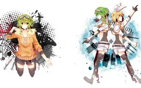Picture style, background, anime, art, Vocaloid, Vocaloid, characters