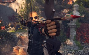 Picture warrior, bow, arrow, Shadow Warrior, aiming