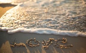 Picture sand, sea, wave, beach, summer, love, summer, love, beach, sea, romantic, sand, bokeh, bokeh, wave