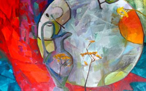 Picture graphics, plate, Painting, decanter, hawthorn, Siag Art, Svetlana Nesterova