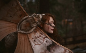 Picture girl, Aleah Michele, a giant moth, Words and moths