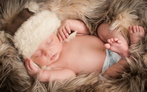 Picture hat, sleep, boy, baby, sleeping, fur, babies