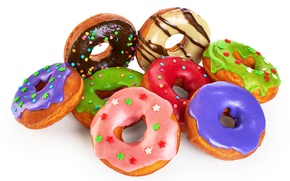 Picture colorful, donuts, glaze, donuts