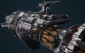 Picture transport, design, ship, gun, USR Colossus