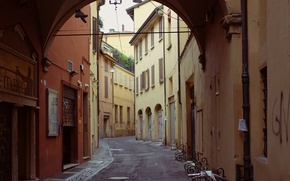 Picture Street, Italy, Arch, Italy, Street, Italia, Bologna, Bologna