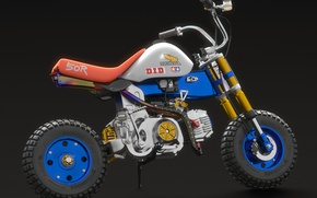 Picture style, motorcycle, Honda, a minibike