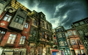 Picture HDR, Street, Istanbul, Turkey, Street, Istanbul, Turkey, Old building