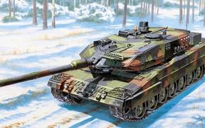 Wallpaper Leopard 2A6, German main battle tank, Leopard