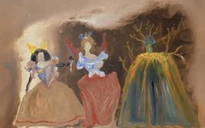 Picture surrealism, picture, Salvador Dali, Salvador Dali, Three Figures