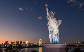 Picture bridge, Japan, Tokyo, The Statue Of Liberty