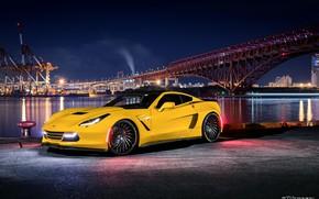 Picture Corvette, Yellow, Chevroet, ZL-1