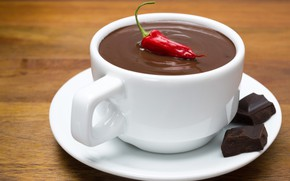 Picture chocolate, Cup, pepper
