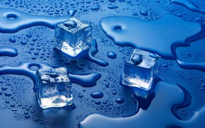 Picture water, liquid, Ice cubes, solid state