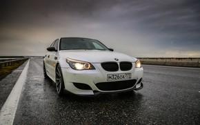 Picture auto, BMW, Machine, Asphalt, BMW, Dampness