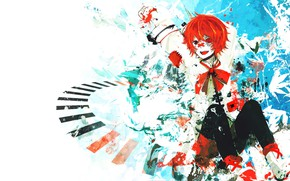 Picture background, hair, guy, Vocaloid