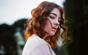 Picture freckles, redhead, curls, Michael Dyer