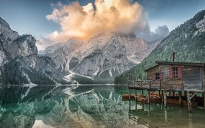 Picture Clouds, Lake, Mountain