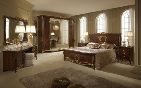 Wallpaper style, room, Villa, interior, bedroom