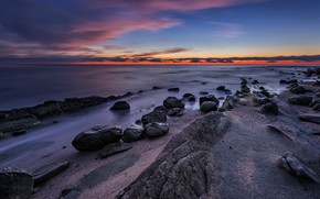 Picture sea, beach, landscape, sunset, nature, sunrise, stones, rocks, shore, nature, sunset, seascape, beautiful, rocks, sunrise, …