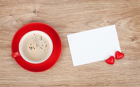 Picture coffee, tape, hearts, love, i love you, heart, cup, romantic, valentine's day, coffee