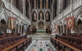Wallpaper Kilburn Interior, St Augustine's Church, Diliff, London, UK