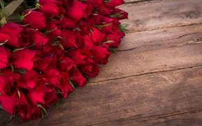 Wallpaper romantic, roses, wood, red, bouquet, roses