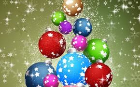 Picture balls, graphics, New year