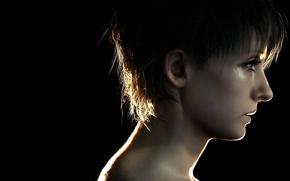 Picture game, woman, Resident Evil, survivor, face, brunette, fear, DLC, Biohazard, head, Zoe, terror, Resident Evil …