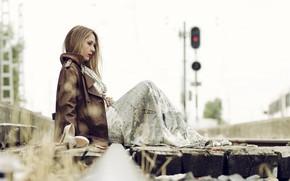 Picture background, railroad, Ana
