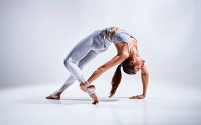 Picture Elongation, technique, female, yoga, Coordination, tattoo, pose