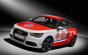 Picture car, wallpaper, sport, logo, football, FC Bayern Munchen, Audi A1