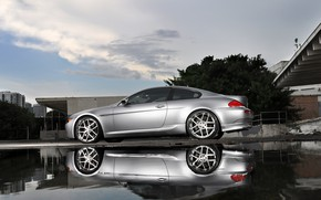 Picture Water, Reflection, Wheel, Machine, The door, Drives, Silver, BMW 6