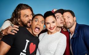 Picture Batman, Ben Affleck, Cyborg, Aquaman, Jason Momoa, Jason Momoa, Gal Gadot, Justice League, Ben Affleck, …