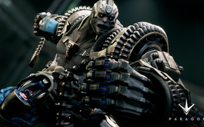 Picture logo, game, powerful, strong, muscular, MOBA, Paragon