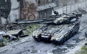 "Wallpaper UMBT-600 ""SOKIRA"", rendering, tank, the city, Valentine Sorokin"