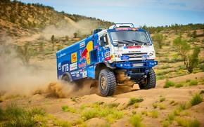 Wallpaper The sky, Sand, Nature, Sport, Speed, Truck, Race, Master, Beauty, Russia, Beast, 307, Kamaz, Rally, ...