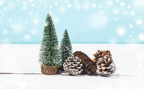Picture winter, background, tree, Christmas, New year, bumps, decor, Valeria Maksakova