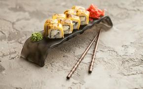 Picture Sticks, Rolls, Ginger, Wasabi