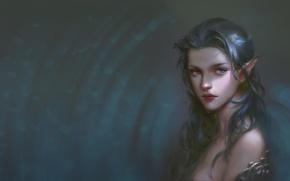 Picture girl, elf, art, elf, fantasy