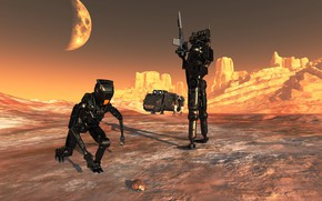 Picture weapons, planet, beetle, robots, Bug Hunt