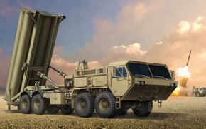 Picture THAAD, Movable launcher, Terminal High Altitude Area Defense, Lockheed Martin Missiles and Space, missile complex