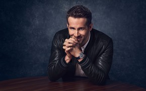 Picture pose, smile, watch, jacket, actor, Ryan Reynolds, Ryan Reynolds