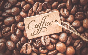 Picture coffee, grain, coffee beans